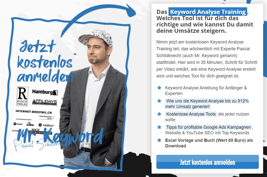 Keyword-Analyse-Workshop mit Pascal Schildknecht